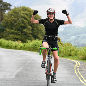 Competitor enjoying Cycle Sportive