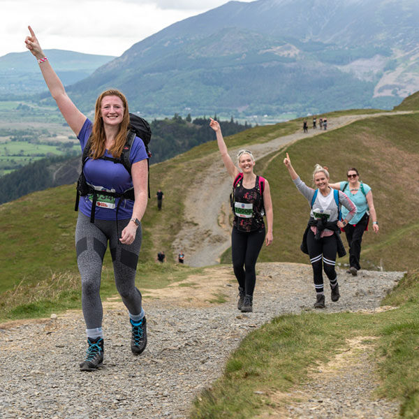 Participants enjoying our 3 Peaks Hike Challenge