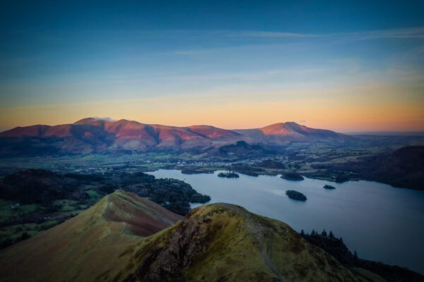 Cat Bells Drone View